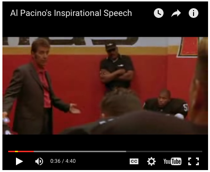 Video Al Pacino S Inspirational Speech From Any Given