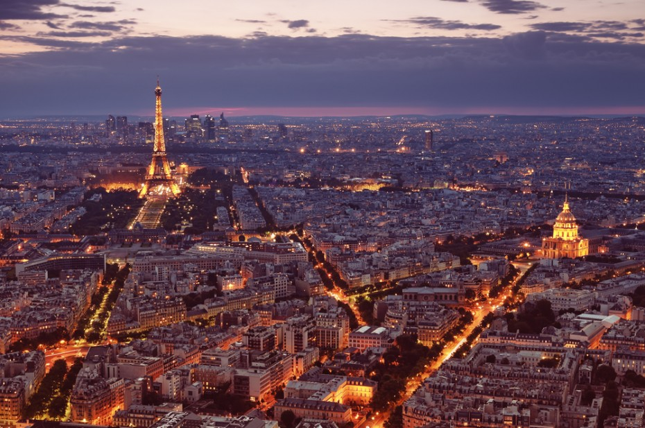 Night-view-of-Paris-with-Eiffel-Tower-and-St.-Pierre-de-Montmartre ...