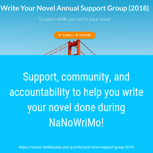 Ready to Write Your Novel for NaNoWriMo? Join us! [Month-long