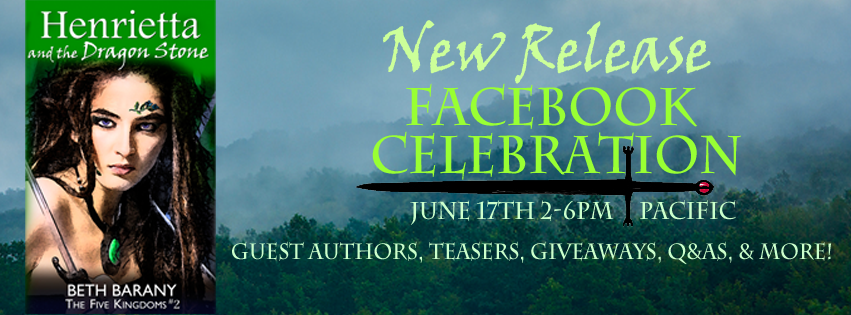 Celebrating Henrietta and the Dragon Stone (Book 2) by Beth Barany on June 17th 2-6pm Pacific