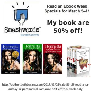 Sale! 50% Off! Read a YA Fantasy or Paranormal Romance Half Off This Week Only