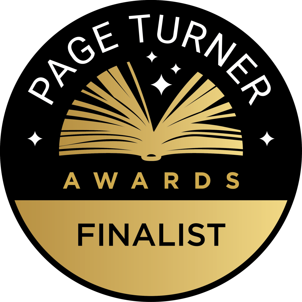 BADGE FOR PAGE TURNER AWARDS FINALIST FOR INTO THE BLACK BY BETH BARANY