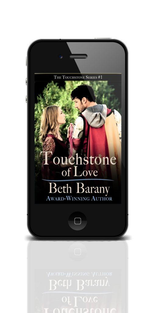 COVER FOR TOUCHSTONE OF LOVE SWEET PARANORMAL ROMANCE NOVELLA